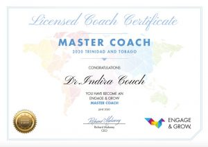 Indira Couch as Engage & Grow master coach in Trinidad & Tobago