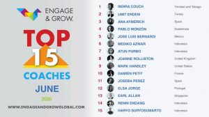 Indira Couch as Engage & Grow coach of the month - June 2020