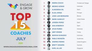 Indira Couch as Engage & Grow coach of the month - July 2020