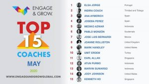 Indira Couch as Engage & Grow coach of the month - May 2020