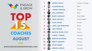 Indira Couch as Engage & Grow coach of the month - August 2020