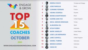 Indira Couch as Engage & Grow coach of the month - October 2020