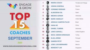 Indira Couch as Engage & Grow coach of the month - September 2020