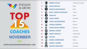 Indira Couch as Engage & Grow coach of the month - November 2020